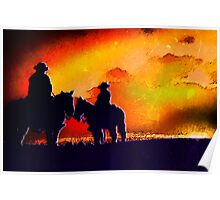 Contrasted Cowboys Poster