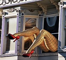 Red heels Haight Ashbury by Alberta Brown Buller
