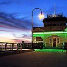 Sunset at St.Kilda Pier by Stephen Ruane