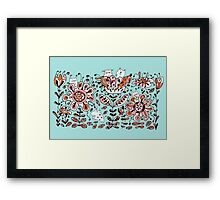 Friendly Flower Monsters Framed Print