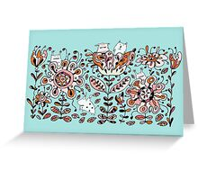 Friendly Flower Monsters Greeting Card