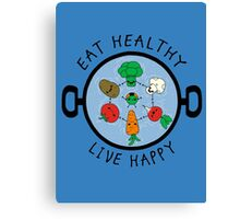 Eat Healthy Canvas Print
