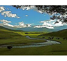 Drakensberg landscape in the late afternoon Photographic Print