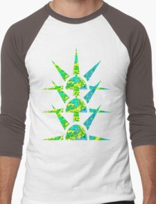 Suns in Green and Yellow Men's Baseball ¾ T-Shirt