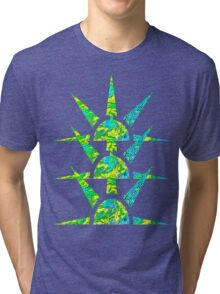 Suns in Green and Yellow Tri-blend T-Shirt