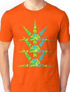 Suns in Green and Yellow Unisex T-Shirt