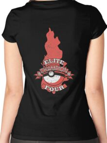Elite Four Champion Flame Women's Fitted Scoop T-Shirt