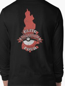 Elite Four Champion Flame Long Sleeve T-Shirt