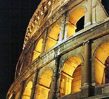 Roman Coliseum by night by Alberta Brown Buller