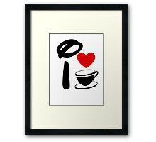 I Heart Tea Cups Framed Print