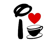 I Heart Tea Cups Photographic Print