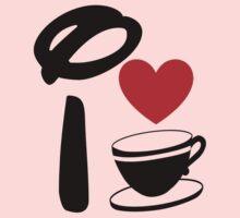 I Heart Tea Cups One Piece - Long Sleeve