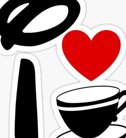 I Heart Tea Cups Sticker