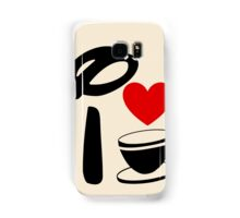 I Heart Tea Cups Samsung Galaxy Case/Skin