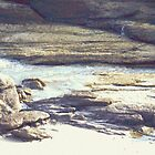 Beach Rocks photo painting by randycdesign