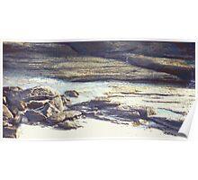 Beach Rocks photo painting Poster