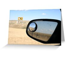 Endless Wandering on dirt roads Greeting Card