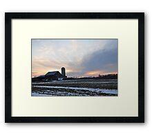 An Amazing Parker Sunset Framed Print