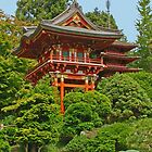 Japanese Pagoda photo painting by randycdesign