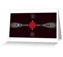red bubble matrix Greeting Card