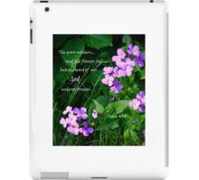 Phlox in Verse iPad Case/Skin