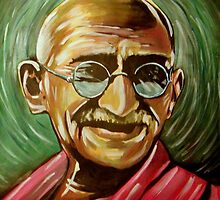 Mahatma Gandhi by johnnysandler