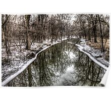 Reflections in Wintertime Poster