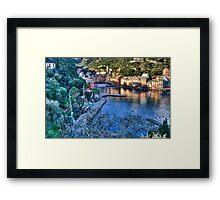 Portofino Paint Framed Print