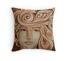 Coffee on Her Mind Throw Pillow