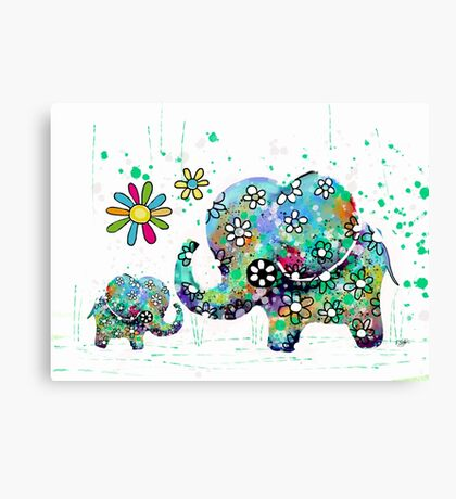 blooming elephants Canvas Print