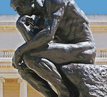 The Thinker photo painting by randycdesign