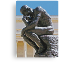 The Thinker photo painting Canvas Print