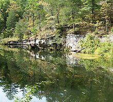 Mirror Lake, Blanchard Springs, Arkansas by trinity8419