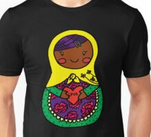 Love Russian Doll with Black Hair and Dark Skin Unisex T-Shirt
