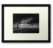 The Lonely Path, Stoodley Pike, Todmorden. Framed Print