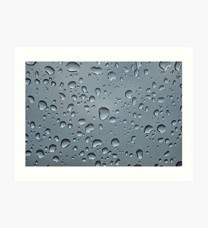 Rain on Glass Art Print