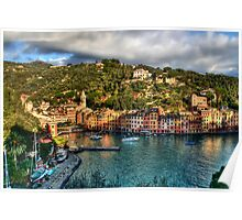 Portofino Paint  two Poster