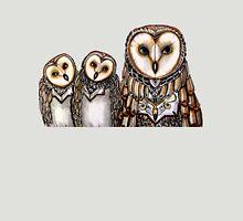 Three barn owls Womens Fitted T-Shirt