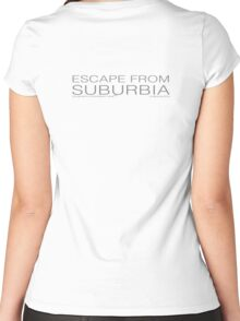 escape from suburbia Women's Fitted Scoop T-Shirt