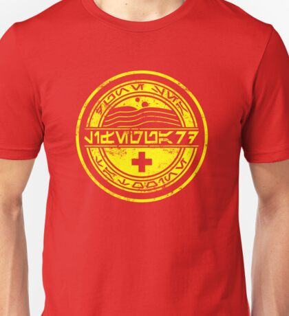 Dune Sea Lifeguard Aurebesh [Yellow Distressed] Unisex T-Shirt