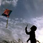 LOOK, DAD I AM FLYING A KITE by RakeshSyal