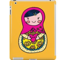 Love Russian Doll with Black Hair and Light Skin iPad Case/Skin