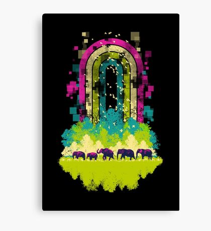Retro Jungle Canvas Print
