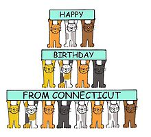 Cats Happy Birthday from Connecticut by KateTaylor