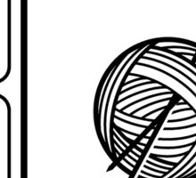 Eat Sleep Knitting Sticker