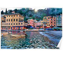 Portofino paint three Poster