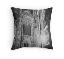Protection of the light on a winter's night Throw Pillow