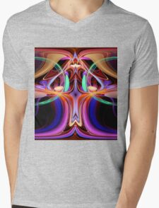 ©DA FS Face Off In Fractal 15A V2 Mens V-Neck T-Shirt