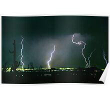 North Scottsdale  Arizona Lightning  View Poster