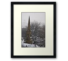Church Steeple in Snow Framed Print